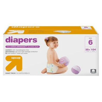 up & up Diapers Giant Pack - Size 6 (104 Count)