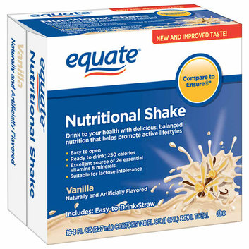 Equate Vanilla Nutritional Shakes