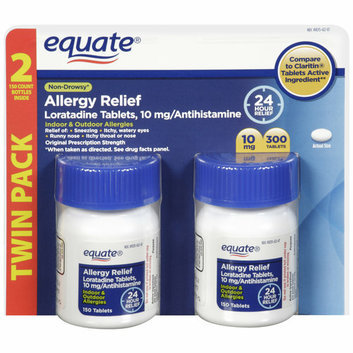 Equate Loratadine Antihistamine Allergy Relief 10mg