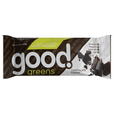 Good Greens Wellness Bar Chocolate Chunk 1.76 oz - Vegan