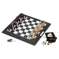 Glaxo Smith Kline Mainstreet Classics 3 in 1 Chess/ Checkers/ Backgammon Leatherette