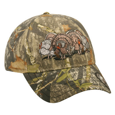Outdoor Cap Company Mossy Oak Obsession Four Turkeys Adjustable Hat