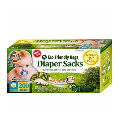 Eco-Friendly Bags Disposable Diaper Bags Scented 200 Pack