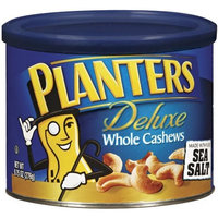 Planters Deluxe Whole Cashews with Sea Salt, Canisters