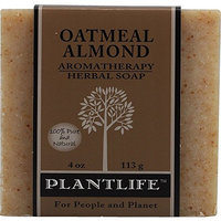 Plantlife Oatmeal Almond 100% Pure & Natural Aromatherapy Herbal Soap- 4 oz (113g)