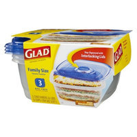 Glad Family Size Food Storage Containers 3 ct