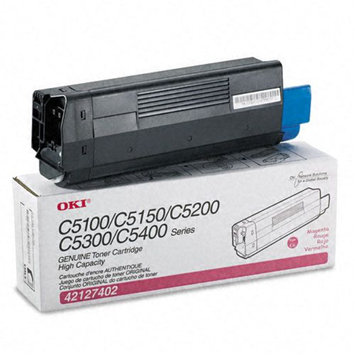 Okidata Corporation 42127402 Toner Cartridge, High-Yield, Magenta