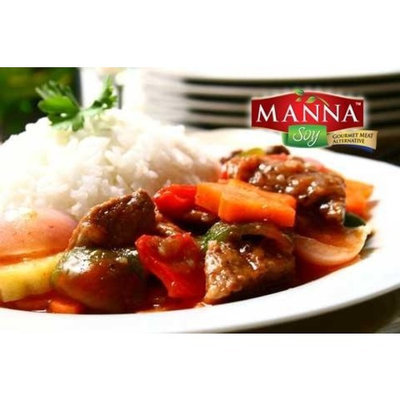 Manna Soy   Gourmet Meatless Products Manna Soy Gourmet Meatless Beef Goulash, NON-GMO, 4.4 Pound Family Pak, All Natural, Gluten Free, Shelf Stable, Pre-cooked, Pre-seasoned, Dairy Free, Egg Free, Sugar Free,- Even Kids Love It