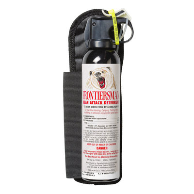 Security Equipment Corp Sabre Frontiersman Bear Spray And Attack Deterrent 7.9 Oz With Chest Holster