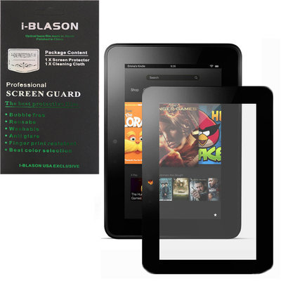 A-1 Advanced Structural Systems, Inc. HD Reusable Matte Bubble-Free Screen Protector for Kindle Fire HD 7