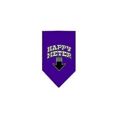 Ahi Happy Meter Screen Print Bandana Purple Large