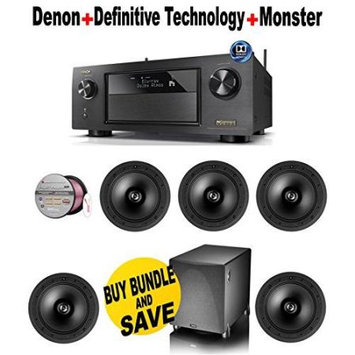 Electronics Expo Denon AVR X4200W 7.2 Channel Full 4K Ultra HD Network A V Receiver with Wi Fi and Bluetooth 5 Defi