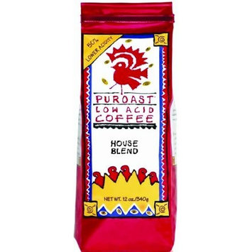 Puroast Low Acid Coffee Puroast Low Acid Roasted House Blend Coffee, Whole Bean, 12 oz, (Pack of 3)