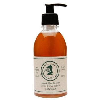 Ancient Olive Natural Olive Oil & Laurel Oil Liquid Soap, Amber Musk, 10.1 oz