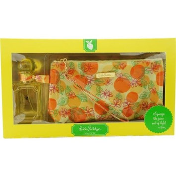 Lilly Pulitzer Squeeze By Lilly Pulitzer For Women Eau De Parfum Spray 1.7 Oz & Cosmetic Bag