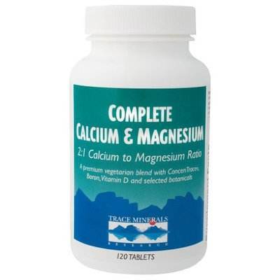 Trace Minerals Research - Complete Calcium Magnesium 2:1, 120 tablets