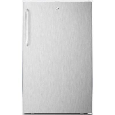 Summit FF511L7CSSADA Commercial 4.1 Cu. Ft. Stainless Steel Undercounter Built-In Compact Refrigerator