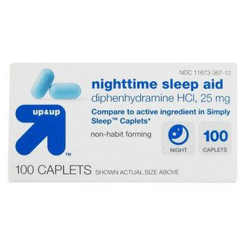 up & up Diphenhydramine HCl Nighttime Sleep Aid Caplets 100-ct.