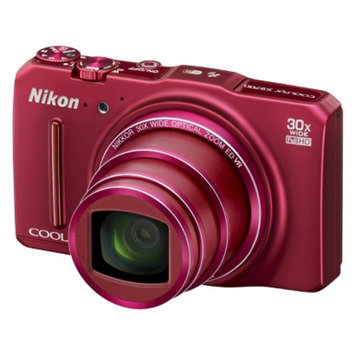 Nikon S9700 16MP Digital Camera with 30X Optical Zoom - Red