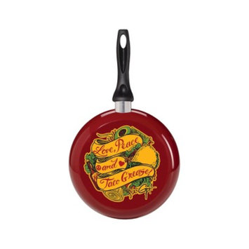 Guy Fieri Nonstick Aluminum Decorated 9.5 Inch Skillet Love, Peace