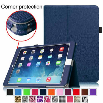 iPad Air 2 Case [Corner Protection] - Fintie Slim Fit Leather Folio Case with Auto Sleep / Wake Feature, Navy