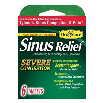 Lil' Drugstore Products Lil Drugstore Products Sinus Relief, Severe Congestion, 6-Count (Pack of 6)