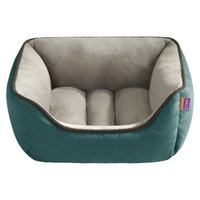 Halo Hooded Snuggler with Cushion - Teal/Taupe (21x25