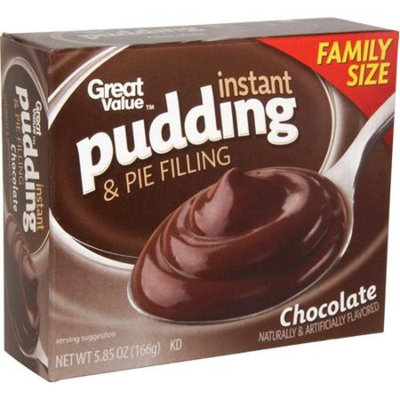 Great Value Chocolate Instant Pudding, 5.85 oz