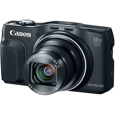 Canon PowerShot SX700 HS 16.1 Megapixel Digital Camera (Black) with Lightroom