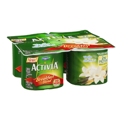 Activia® Vanilla With Grains Breakfast Blend Lowfat Yogurt