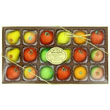 Bergen Marzipan M-1 Assorted Fruit, 8 Ounce