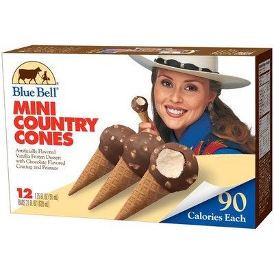 Blue Bell Vanilla Mini Country Cones, 12 Ct
