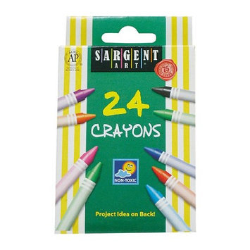 Sargent Educational Products Sargent Art Non-Toxic Crayon, Assorted Color, Pack of 24