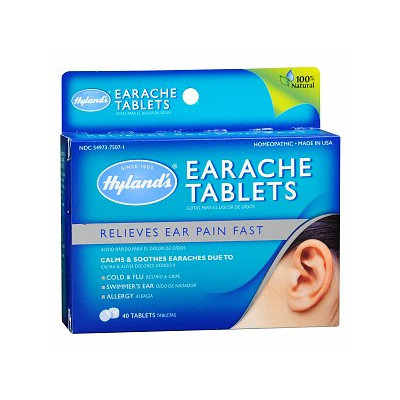 Hyland's Earache Tablets with Free Brochure Written by Physician & Pharmacist