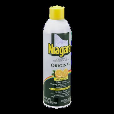Niagara Spray Starch Aerosol Original Lemon