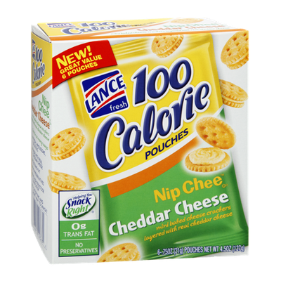 Lance 100 Calorie Nip Chee Cheddar Cheese Cracker Pouches - 6 CT