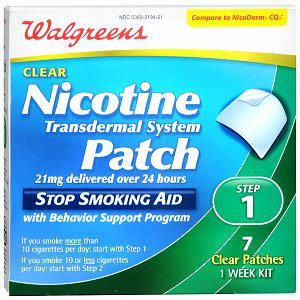Walgreens Nicotine Clear Patch Step One 21Mg