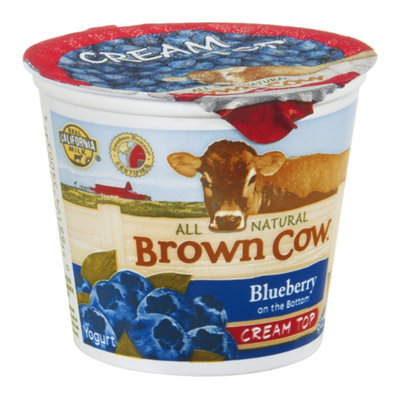 Brown Cow Cream Top Yogurt Blueberry All Natural