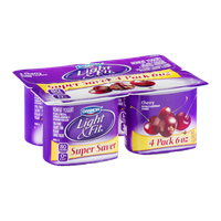 Dannon Light & Fit Cherry Nonfat Yogurt - 4 CT