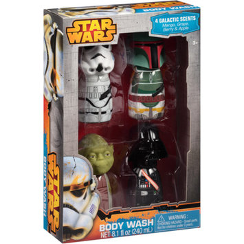STAR WARS-LUCAS Star Wars Galactic Scents Body Washes Bath Gift Set, 4 pc