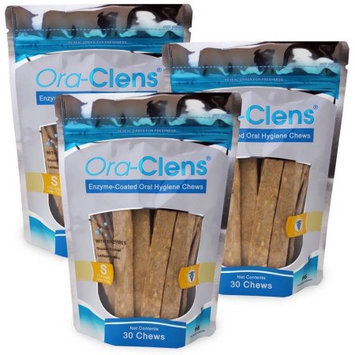 Pet Health Solutions 3 PACK Ora-Clens Oral Hygiene Chews SMALL (90 Chews)