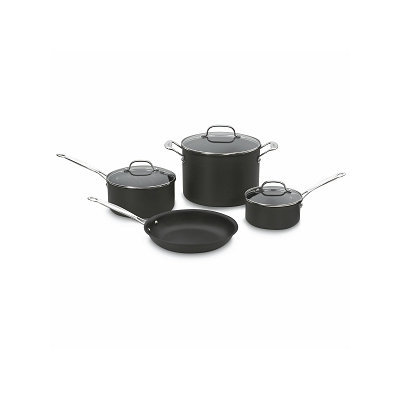Cuisinart Chef's Classic Hard Anodized Non-stick 7-piece Cookware Set