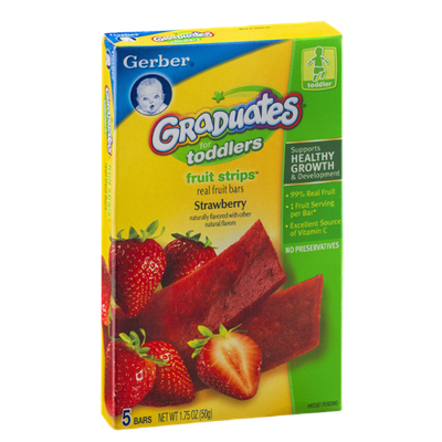Gerber Graduates for Toddlers Fruit Strips Strawberry - 5 CT
