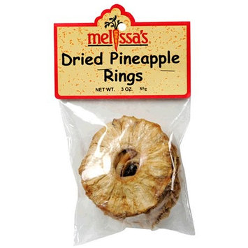 Melissa's Dried Pineapple Rings, 3-Ounce Bags (Pack of 12)