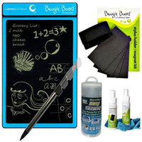 Improv Boogie Board LCD Writing Tablet in Cyan With Magnet Kit/ Cleaning Cloth