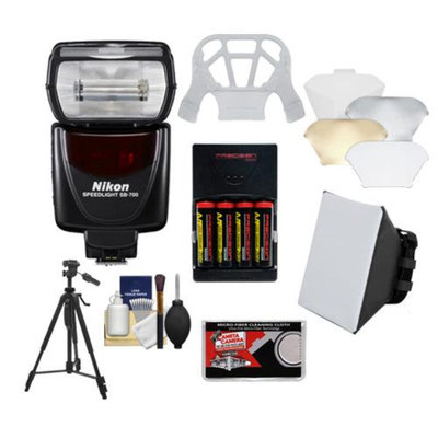 Nikon SB-700 AF Speedlight Flash with Softbox + Diffuser + Batteries/Charger + Tripod Kit for D3200, D3300, D5200, D5300, D7000, D7100, D610, D800, D4s DSLR Cameras