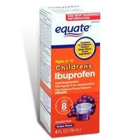 Equate Children's Ibuprofen Pain Reliever/Fever Reducer, Oral Suspension, Grape Flavor 4 Oz