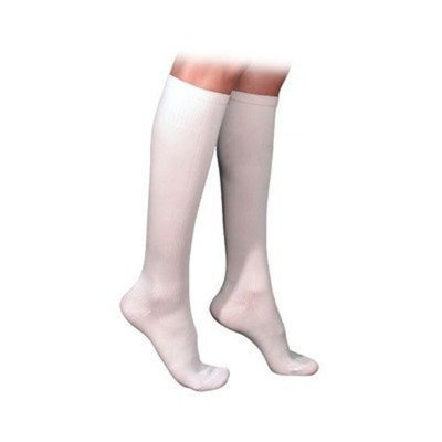 Sigvaris 230 Cotton Series 20-30 mmHg Women's Closed Toe Knee High Sock Size: X-Large Short, Color: White 00