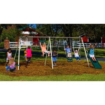 Flexible Flyer Fun Fantastic II Steel Swing Sets - Mocha/Green