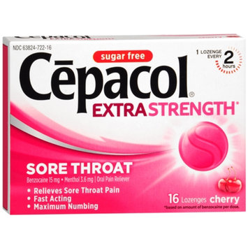 Cepacol Sugar Free Sore Throat Oral Pain Reliever Lozenges